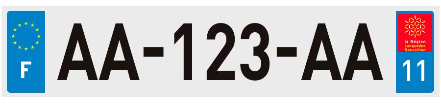 plaques d 39 immatriculation aude 11 sur. Black Bedroom Furniture Sets. Home Design Ideas