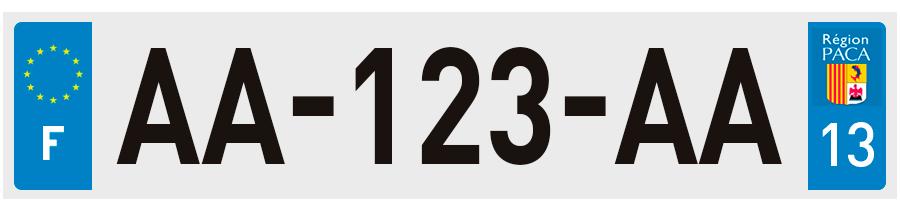 Plaques d 39 immatriculation bouches du rh ne 13 sur for Cinema le club salon de provence