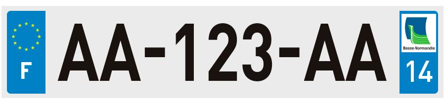 plaques d 39 immatriculation calvados 14 sur. Black Bedroom Furniture Sets. Home Design Ideas