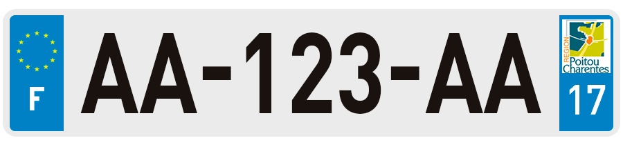 plaques d 39 immatriculation charente maritime 17 sur. Black Bedroom Furniture Sets. Home Design Ideas