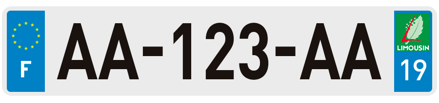 plaques d 39 immatriculation corr ze 19 sur. Black Bedroom Furniture Sets. Home Design Ideas