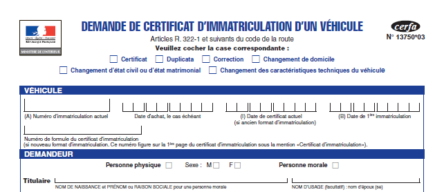 le document cerfa 13750