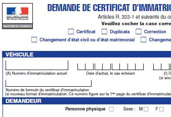 formulaire pour carte grise Tarifs carte grise 2014 : les régions les plus chères de France