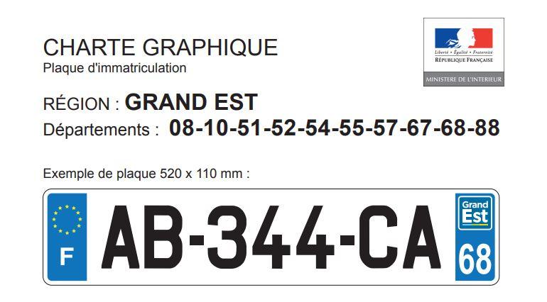 logo Grand-Est pour plaques